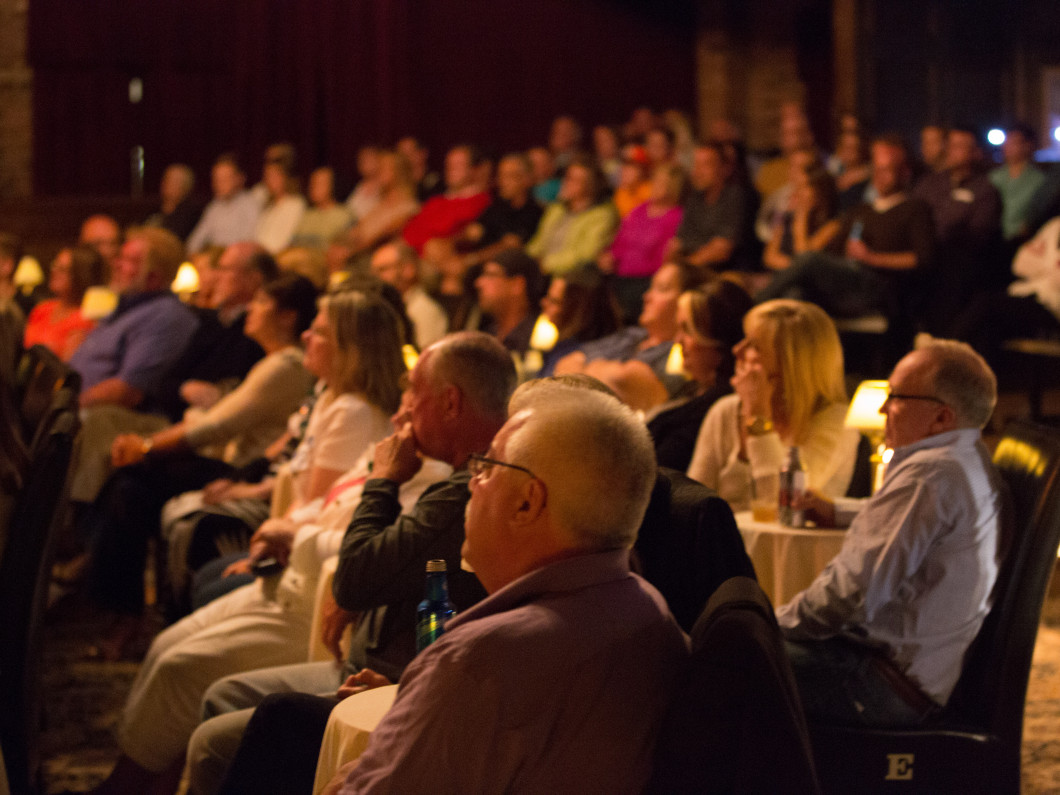 guests enjoying a show at Lexington Village Theatre